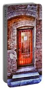 Urban Door In Old Brick Building Portable Battery Charger