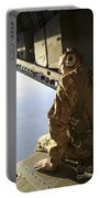 U.s. Air Force Commander Sits Harnessed Portable Battery Charger