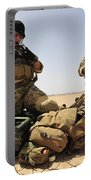 U.s. Air Force Soldiers Gather Portable Battery Charger
