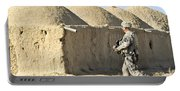 U.s. Army Soldier Conducts A Dismounted Portable Battery Charger