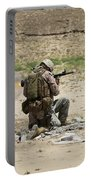 U.s. Army Soldier Fires Portable Battery Charger