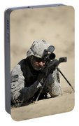U.s. Army Soldier Sights In A Barrett Portable Battery Charger