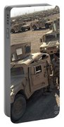 U.s. Army Soldier Speaks With Iraqi Portable Battery Charger by Stocktrek Images
