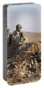 U.s. Army Soldiers At A Checkpoint Portable Battery Charger