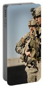 U.s. Army Soldiers Search A Site Portable Battery Charger