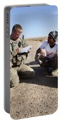 U.s. Army Soldiers Speak With Elders Portable Battery Charger