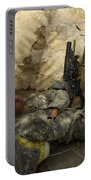 U.s. Army Specialist Takes A Nap Portable Battery Charger