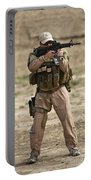 U.s. Contractor Firing A M4 Carbine Portable Battery Charger