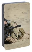 U.s. Contractor Sights In A Barrett Portable Battery Charger
