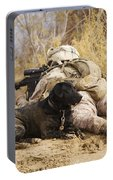 U.s. Marine And A Military Working Dog Portable Battery Charger