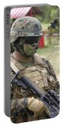 U.s. Marine Communicates Via Radio Portable Battery Charger