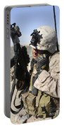 U.s. Marine Communicates With Fellow Portable Battery Charger
