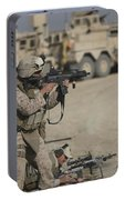 U.s. Marine Fires A G36k Carbine Portable Battery Charger
