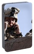 U.s. Marine Gives Directions To Units Portable Battery Charger