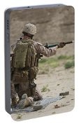 U.s. Marine Prepares A Fragmentation Portable Battery Charger