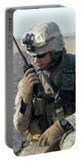 U.s. Marine Uses A Mbitr Anprc-148 Portable Battery Charger by Stocktrek Images