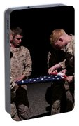 U.s. Marines Fold The American Flag Portable Battery Charger