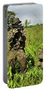 U.s. Marines Guard An Extraction Point Portable Battery Charger