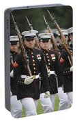 U.s. Marines March By During The Pass Portable Battery Charger