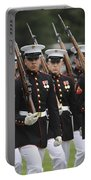 U.s. Marines March By During The Pass Portable Battery Charger by Stocktrek Images