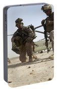 U.s. Marines Unloading Portable Battery Charger