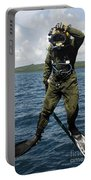 U.s. Navy Diver Jumps Off A Dive Portable Battery Charger