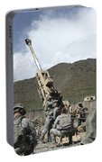 U.s. Soldiers Prepare To Fire Portable Battery Charger