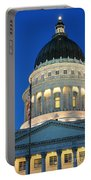 Utah State Capitol Building Dome At Sunset Portable Battery Charger