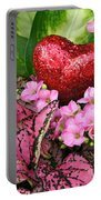 Valentine Heart And Flowers Portable Battery Charger