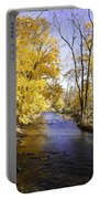 Valley Forge Creek In Autumn Portable Battery Charger