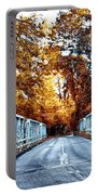 Valley Green Road Bridge In Autumn Portable Battery Charger by Bill Cannon