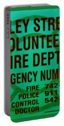Valley Stream Fire Department In Irish Green Portable Battery Charger