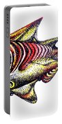 Variegated Red Fish In Stipple Portable Battery Charger