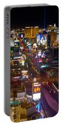 Vegas Strip At Night Portable Battery Charger