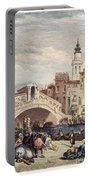 Venice: Rialto, 1833 Portable Battery Charger