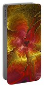 Vibrant Red And Gold Portable Battery Charger