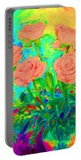 Vibrant Roses Portable Battery Charger