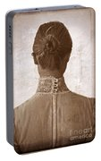 Victorian Lady From Behind Portable Battery Charger