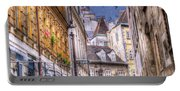 Vienna Cobblestone Alleys And Forgotten Streets Portable Battery Charger