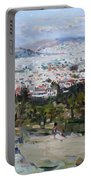 View Of Athens From Acropolis Portable Battery Charger
