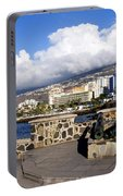 View Of Puerto De La Cruz From Plaza De Europa Portable Battery Charger