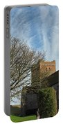 View Of St Mary Church And Clouds In Dover Castle Portable Battery Charger