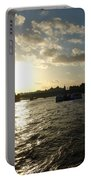 View Of The Thames At Sunset With London Eye In The Background Portable Battery Charger