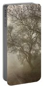 Vigilants Trees In The Misty Road Portable Battery Charger