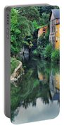 Village Reflections In Luxembourg II Portable Battery Charger