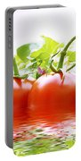 Vine Tomatoes And Salad With Water Portable Battery Charger