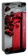 Vines On Red Shutters Portable Battery Charger