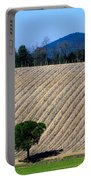 Vineyard On A Hill With Trees Portable Battery Charger