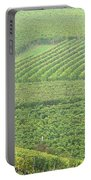 Vineyards Near St Emilion In The Mist Portable Battery Charger