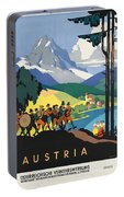Vintage Austrian Travel Poster Portable Battery Charger